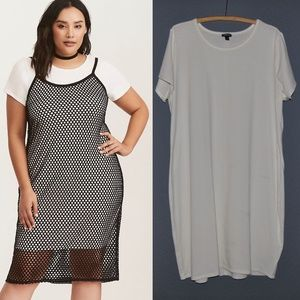 TORRID White Knit Bodycon T-Shirt Dress [D9]